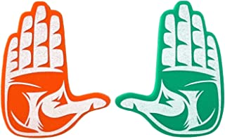 Root Sportswear 迈阿密大学飓风队 UM NCAA 学院 U 手标志泡沫手/泡沫手指
