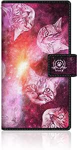 CaseMarket 【翻盖式】 Galaxy S6EDGE ( SC-04G / scv31/404SC ) 超薄壳针脚模型 [ nyago 宇宙图案猫 & 银河紫色 ] SC-04G vcm2s2050Samsung