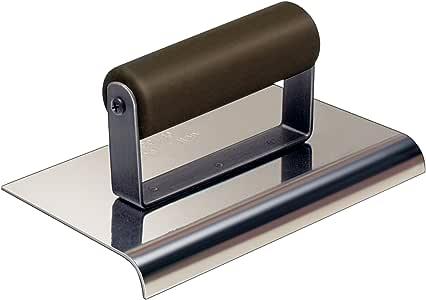 Kraft 工具 1/2 英寸半径 5/8 英寸不锈钢侧行走边,带塑料手柄 8 x 6-Inch CF103P