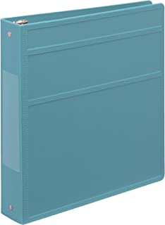 Carstens 1.5 英寸重型 3 扣眼活页簿 - 侧开口 粉蓝色