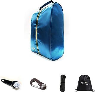 POSMA SB030B 高尔夫 36.5 厘米 X 19.5 厘米潜水鞋包套装,1 个高尔夫湿毛刷 + 1 个高尔夫刷工具 + 1 个高尔夫 5 合 1 球叉 + 1 个黑色袋背包