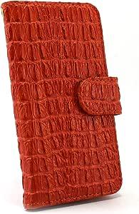 白色坚果鳄鱼图案手机保护壳翻盖式 橙色 21_ VAIO Phone Biz VPB0511S