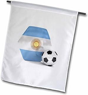 carsten reisinger illustrations–插图–阿根廷足球–旗帜 12 x 18 inch Garden Flag