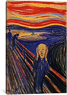 iCanvasART 15281-1PC3-40x26 The Scream, 1893 Canvas Print by Edvard Munch, 0.75 by 26 by 40-Inch
