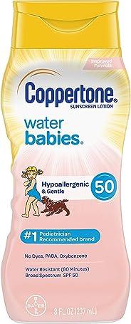 Coppertone SPF #50 水婴儿乳液 8 盎司(237 毫升)(2 瓶装)