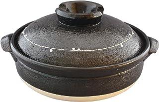 佐治陶器 万古烧 土锅 8号 (25cm) 2-3人用 一珍涂层