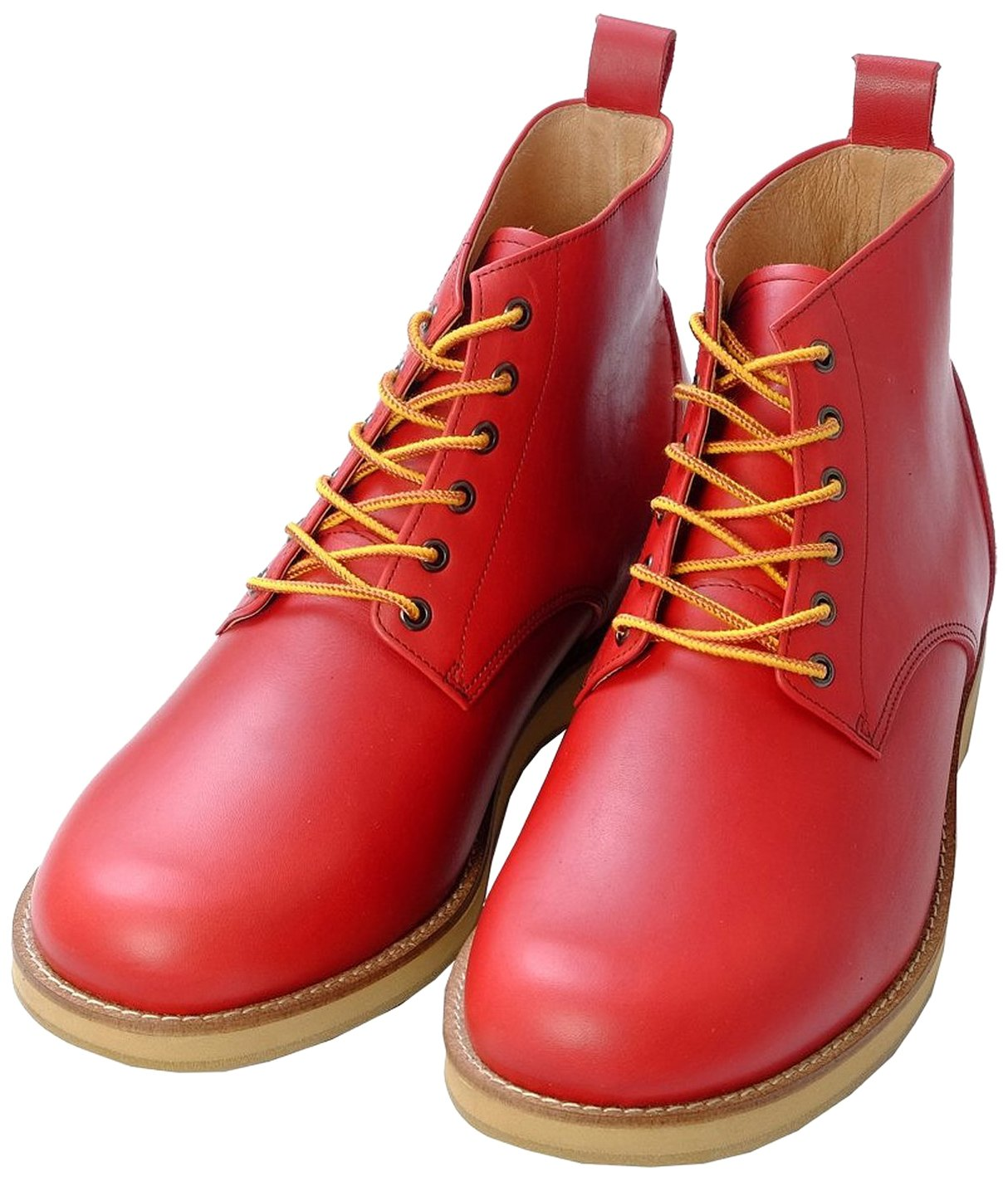 (北嶋制鞋工业所) KITAJIMA 5.5cmUP真皮增高靴 牛皮工作靴〈平面〉『脚长款上装鞋』山地靴*563(男鞋子 男鞋 国产 日本制造 牛皮 工作靴 4E 宽松)