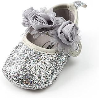 女嬰軟底瑪麗珍公主帶蝴蝶結帆布嬰兒床