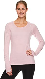 Reebok 锐步 女式长袖跑步 T 恤 - 动态修身性能上衣