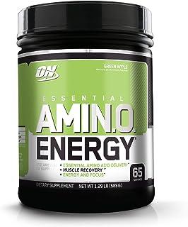 OPTIMUM NUTRITION ESSENTIAL AMINO ENERGY 必需氨基酸能量补充粉, 青苹果味, 锻炼前用, 含有绿茶及青咖啡萃取, 65 次服用份量
