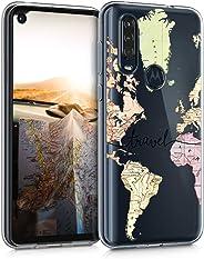 kwmobile TPU 硅胶保护套适用于摩托罗拉One Action - 水晶透明智能手机后壳保护壳 - 旅行黑/多色/透明50019.01_m001421 Travel black/multicolor/transparent