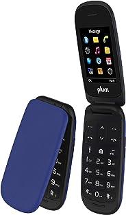 Plum Flipper 2 - 翻转手机解锁 GSM 大屏幕大键盘 FM 收音机相机闪光灯转动地铁 MetroPCS 简单移动直播D110BLU 蓝色
