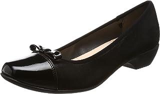 [ オールデイウォーク 】的走路舒适方头浅口鞋女鞋3cm 高跟脚宽2E ALD 0690