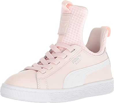 PUMA 彪马 Basket Fierce Ep Ac Ps 儿童运动鞋 Pearl-puma 白色 1 M US 儿童