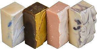 山羊牛奶香皂 - 适合女士香味 - 海洋、粉红糖、Luv Spell、黑莓。 *,由山羊奶填充手工制作。 杠铃 5 盎司 每个,4 件