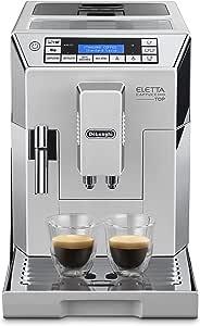 De'Longhi 德龙 Eletta Cappuccino Top 全自动咖啡机 ECAM 45.760.W/15 bar压力萃取/1450 W/1.8L大容量水箱(德版英版随机发货,英版需转换插头)