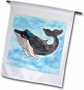 鲸鱼尾 gang–HERMAN humpback–旗帜 12 x 18 inch Garden Flag