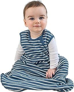 Woolino 婴儿睡袋 - 四季基本款美利奴羊毛睡袋,0-3 岁 *蓝 0-6 个月