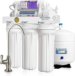 APEC Water Systems 碱性矿物pH +高滤水量90 GPD 6阶式超安全反渗透饮用水过滤系统(ULTIMATE RO-PH90)