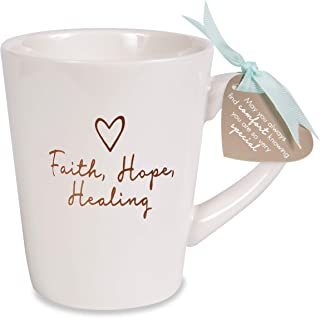 Pavilion Gift Company 19563 Faith、Hope、Healing Cup、15 盎司、奶油色