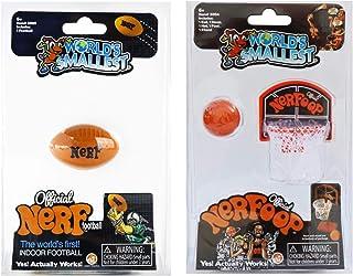 Worlds Small Nerf 足球 Nerf 篮球 - 捆绑(2 件套)