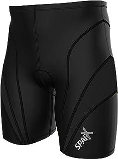 Sparx 男士铁人三项短裤骑行短裤,1 拉链口袋风短裤 - 男士铁人三项短裤 - 带软软软软软软皮裤 - 游泳-骑行服