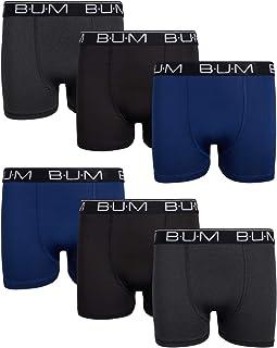 B.U.M. Equipment 男孩 Performance Dri-Fit 压缩平角内裤(6 条装)