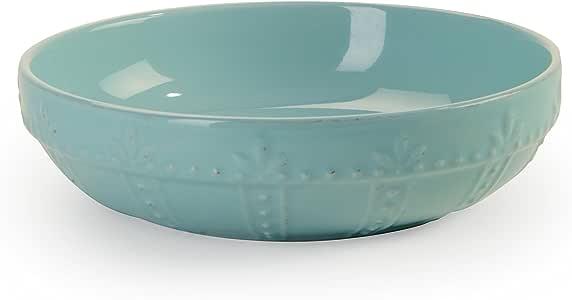 """Signature Housewares Sorrento 系列 4 个意大利面碗,20.32 厘米,浅灰色 水绿色 8"""" 70756"""