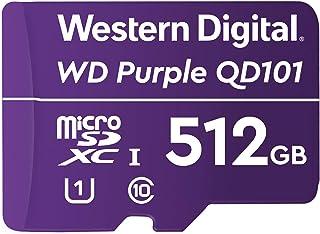 Western Digital 西部数据 紫色 SC QD101 512GB 智能视频监控 microSDXC 卡,超耐久高达 256 TBW
