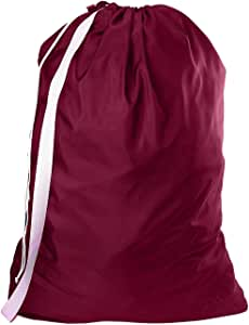 B&C 尼龙洗衣袋带肩带 - 76.20 cm X 101.60 cm - * 尼龙,适合重型使用、大学洗衣袋、洗衣机和家用存放,可机洗 - 美国制造 酒红色