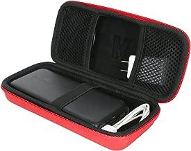 Khanka RAVPower 便攜式充電器硬質保護套 RAVPower 22000mAh 適用于便攜式手機充電器 22000 移動電源 5.8A 輸出 3 端口電池組316 紅色