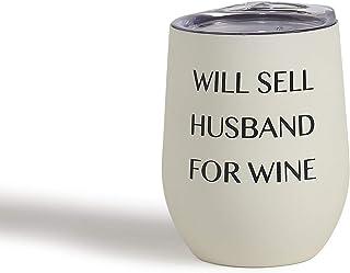 Mona B Husband 出售 340.19 毫升不锈钢酒杯带盖 MG-308