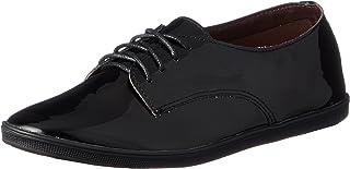 [NUVELOVOREGLAKES] 平底鞋 蟒蛇皮穿系带短靴 16-2755