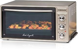 ROMMELSBACHER BG 1650 迷你烤箱,具有强大的烧烤功能 / 40升 / CLEANemail 涂层 / 流动 / 可伸缩旋钮 / 1650瓦 / 香槟色金属