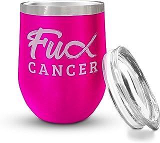 Veracco Fck **丝带无茎酒杯激励人心情提升趣味**幸存者礼物 粉红色