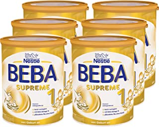 Nestlé 雀巢 BEBA SUPREME 1段初始奶粉 適合新生兒寶寶 植物油不含棕櫚油 6件裝(6 x 800g)