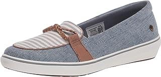 Grasshoppers 女式 Windsor Knot 牛仔/条纹运动鞋