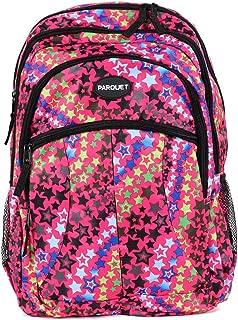 儿童书包、带可调节衬垫肩带的重型包、大主隔层舒适、炫酷印花、手提书、笔记本电脑、旅行、户外 星星