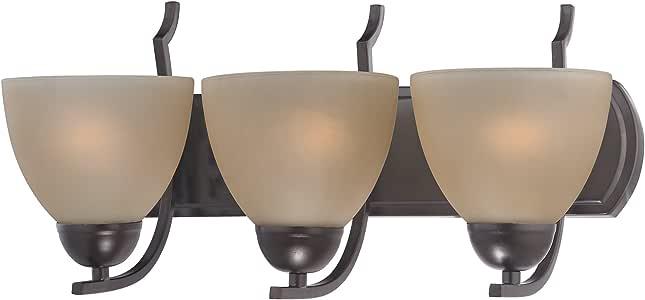 Cornerstone 1403BB-10 金士顿 3 灯梳妆台,油面青铜 青铜色 10 x 9 x 20 x Inch 1403BB/10