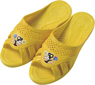 巴士、厕所、阳台用凉鞋 儿童用 黄色 19cm -