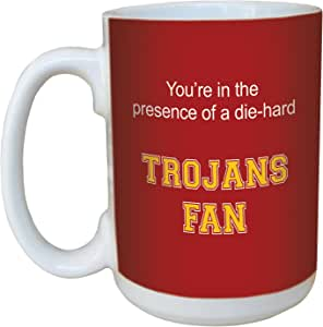 Tree-Free Greetings lm44932 Trojans College Basketball Ceramic Mug with Full-Sized Handle, 15-Ounce
