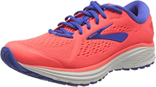 Brooks 女式 Aduro 6 跑鞋,珊瑚色/蓝色/白色,38 码