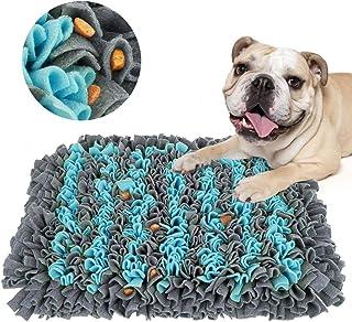 SeoJack Snuffle Mat Sniffing 缓震喂养训练垫,适用于狗狗的耐用互动拼图玩具放松和无聊,促进自然觅食技能和气味 蓝色和灰色