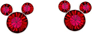 Disney 银板米老鼠水晶诞生石耳钉