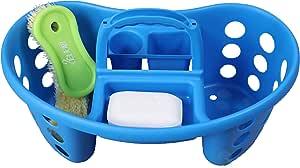 便携式塑料工具箱 蓝色 中 QI003257B