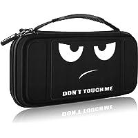 Fintie 手提包适用于 Nintendo Switch - [防震] 硬壳保护套旅行包 w/10 个游戏卡槽,内袋适用于 Nintendo Switch console Joy-Con & 配件,Dont Touch