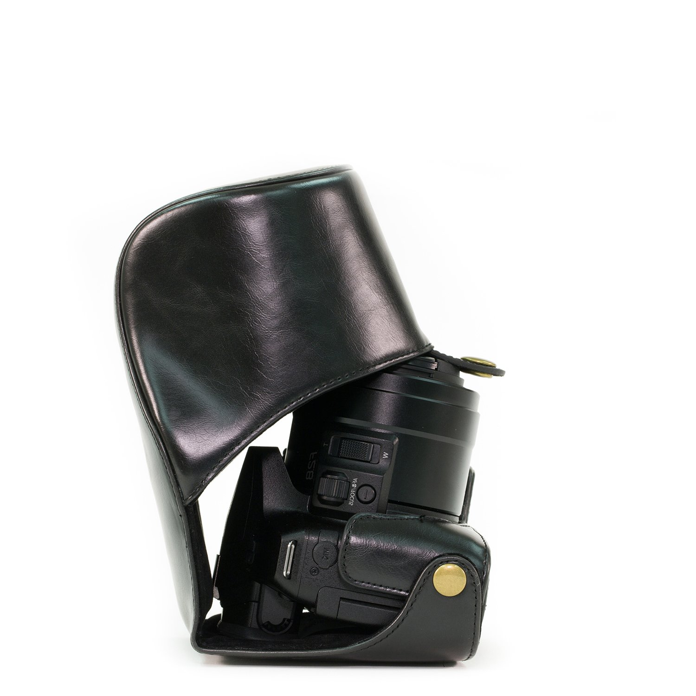 MegaGearエバーレディー保護革カメラバッグを、パナソニックLUMIX DMC-FZ300デジタルカメラバッグ