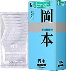 Okamoto 冈本 避孕套 skin肤感超润滑10片 原装进口
