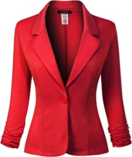 MixMatchy 女式经典休闲工作纯色针织外套