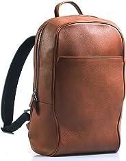 Maruse 皮革背包 笔记本电脑背包 旅行包 - 意大利制造 干邑色 均码
